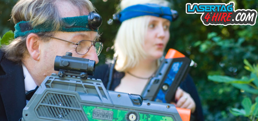 Promo photo shoot in Bideford for lasertag4hire.com